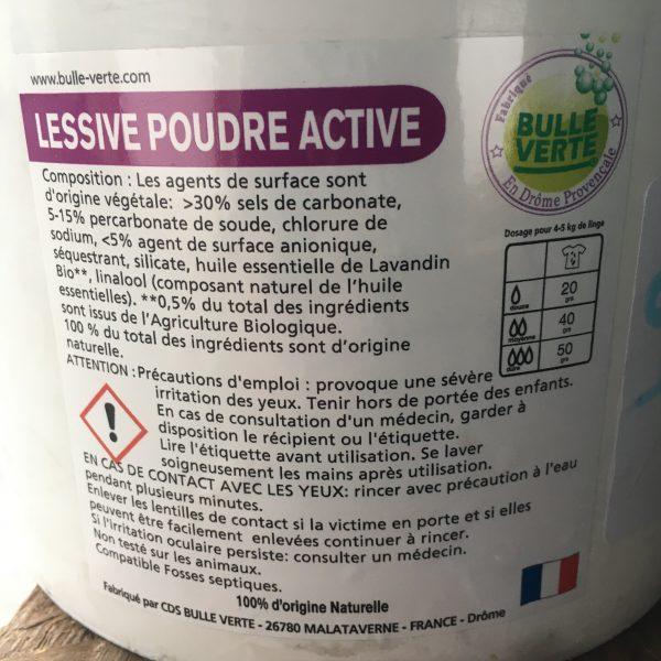Lessive poudre active